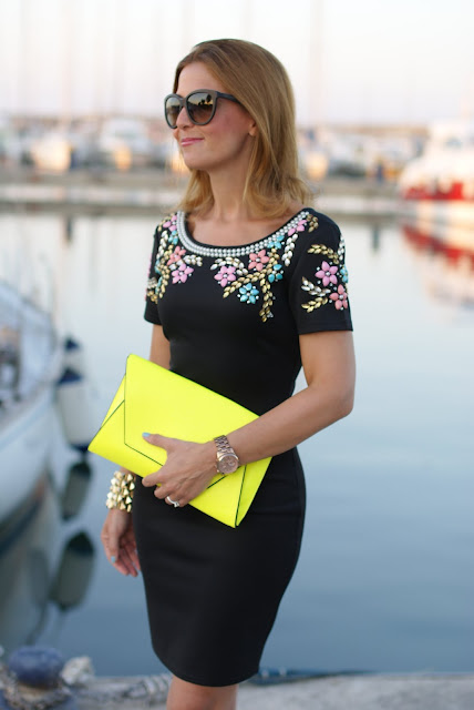 summer outfit, elegant black mini dress, Chi Chi London, Fashion and Cookies, fashion blogger italiana