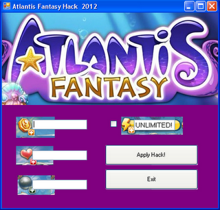 Atlantis Fantasy Cheats and Hack v.1.12