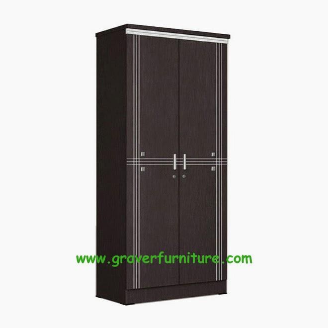 Lemari Pakaian 2 Pintu LP 8895 Popular Furniture