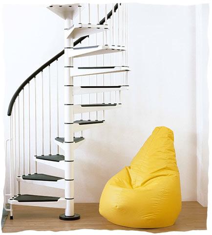 white civic spiral staircase design