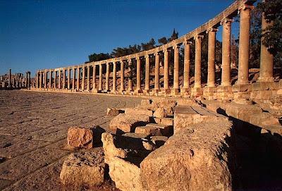 Jerash Columnas romanas