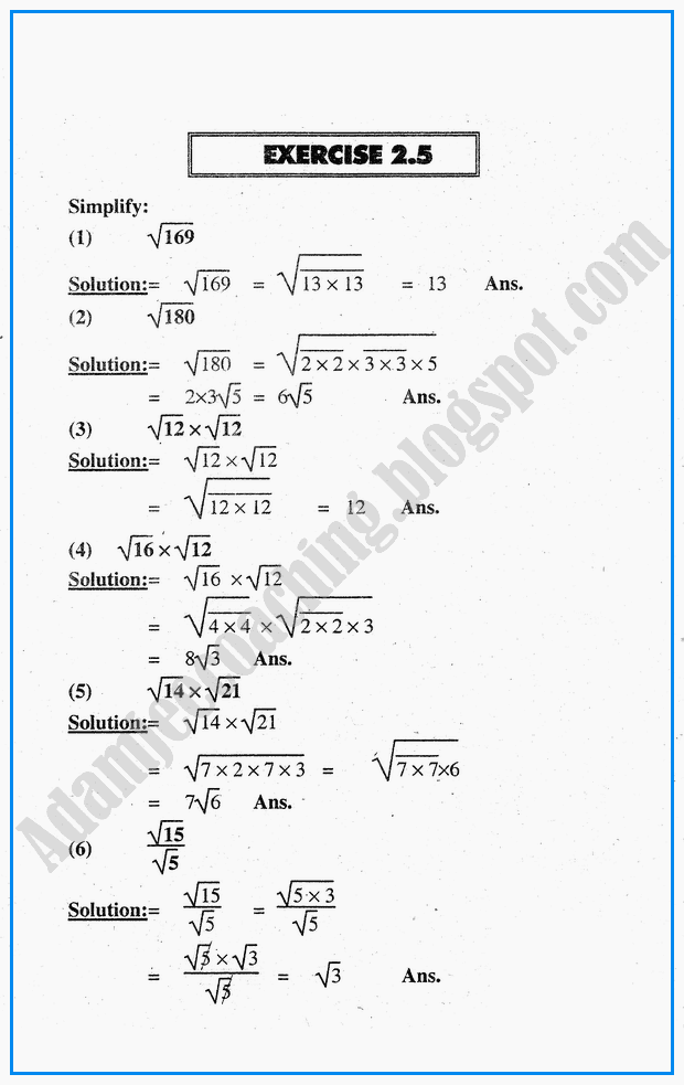 exercise-2-5-system-of-real-numbers-exponents-and-radicals-mathematics-notes-for-class-10th