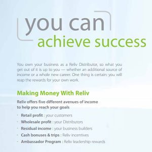 Find unlimited earning potential as a Reliv Distributor today!