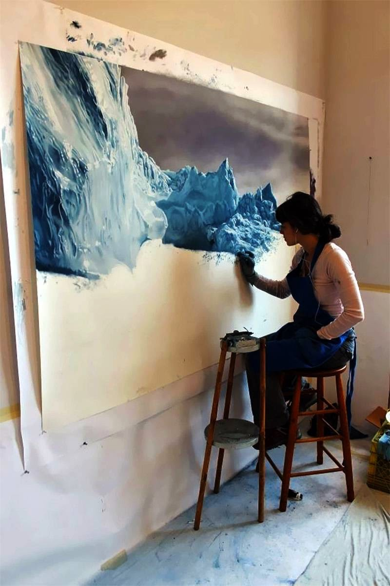 Zaria Forman | The Pastel Icebergs Drawing