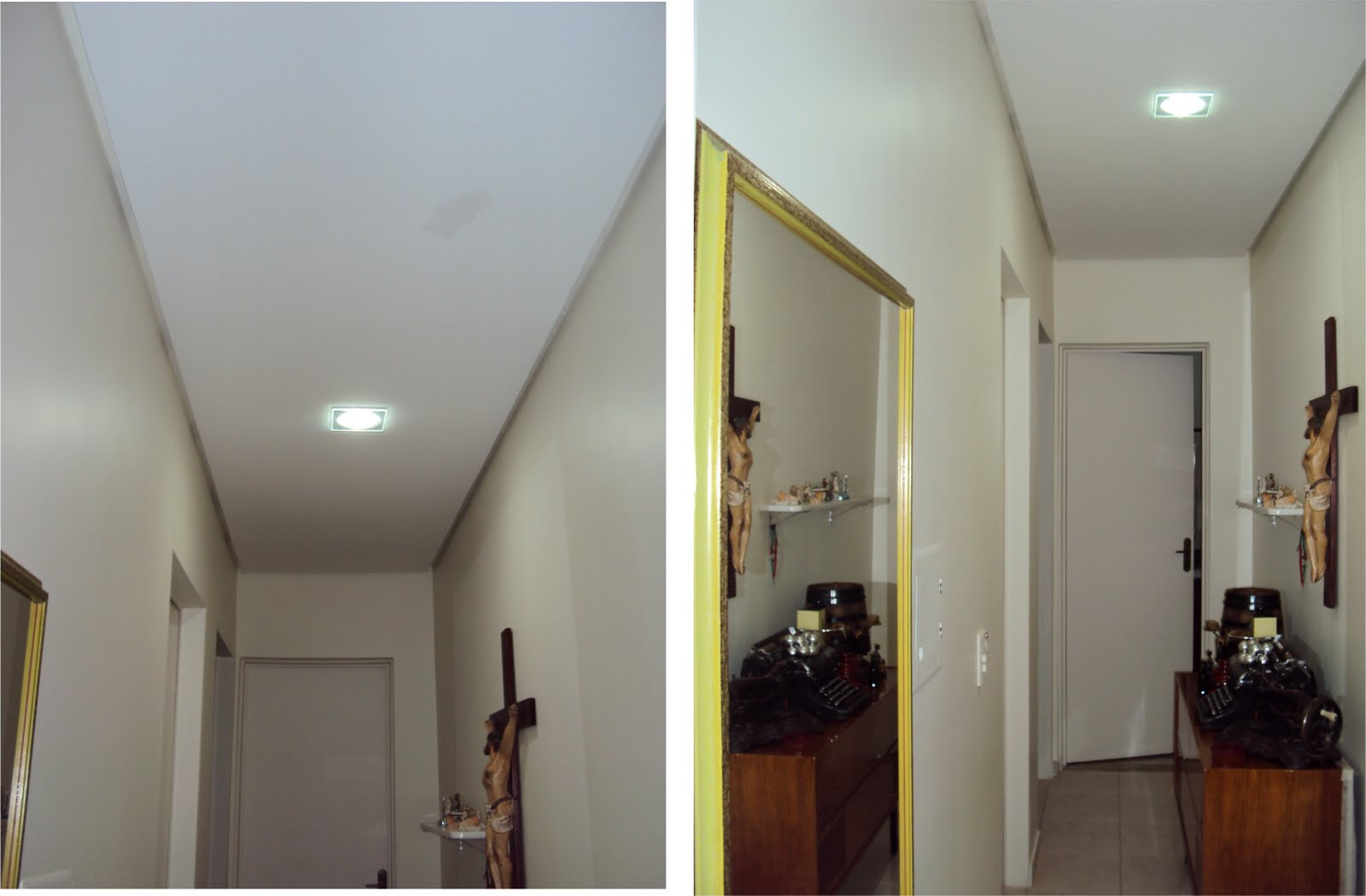 Marcia Schmidt: Reforma casa Inêz Schmidt Corredor x banheiro #34231E 1600 1050
