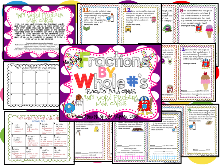 math worksheet : fourth grade flipper tricky math!! : Multiplying Fractions With Whole Numbers Worksheet
