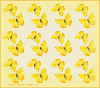 fondo vintage con mariposas amarillas