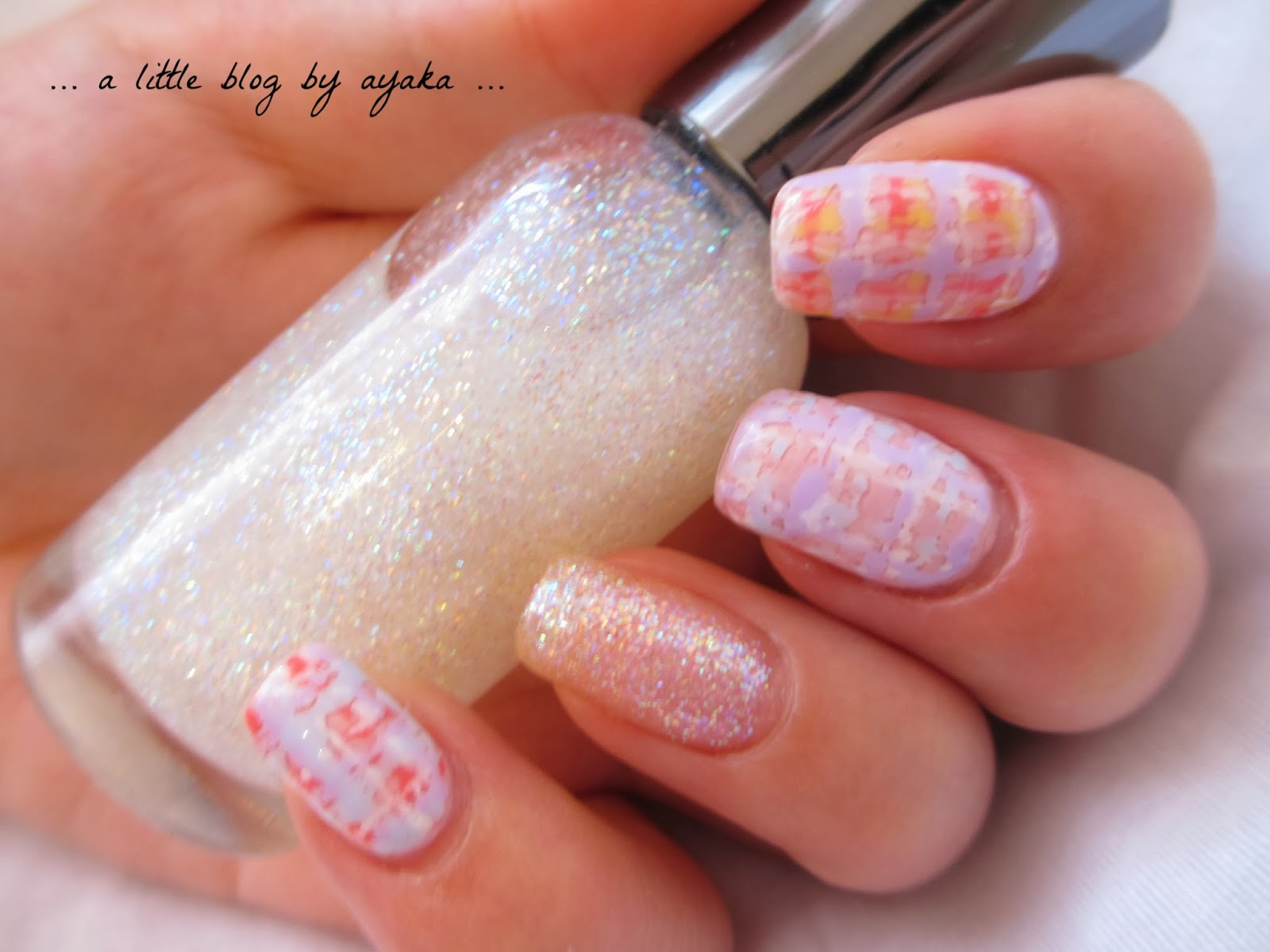 A Little Blog By Ayaka Chanel Inspired Winter Pastel Tweed Nail