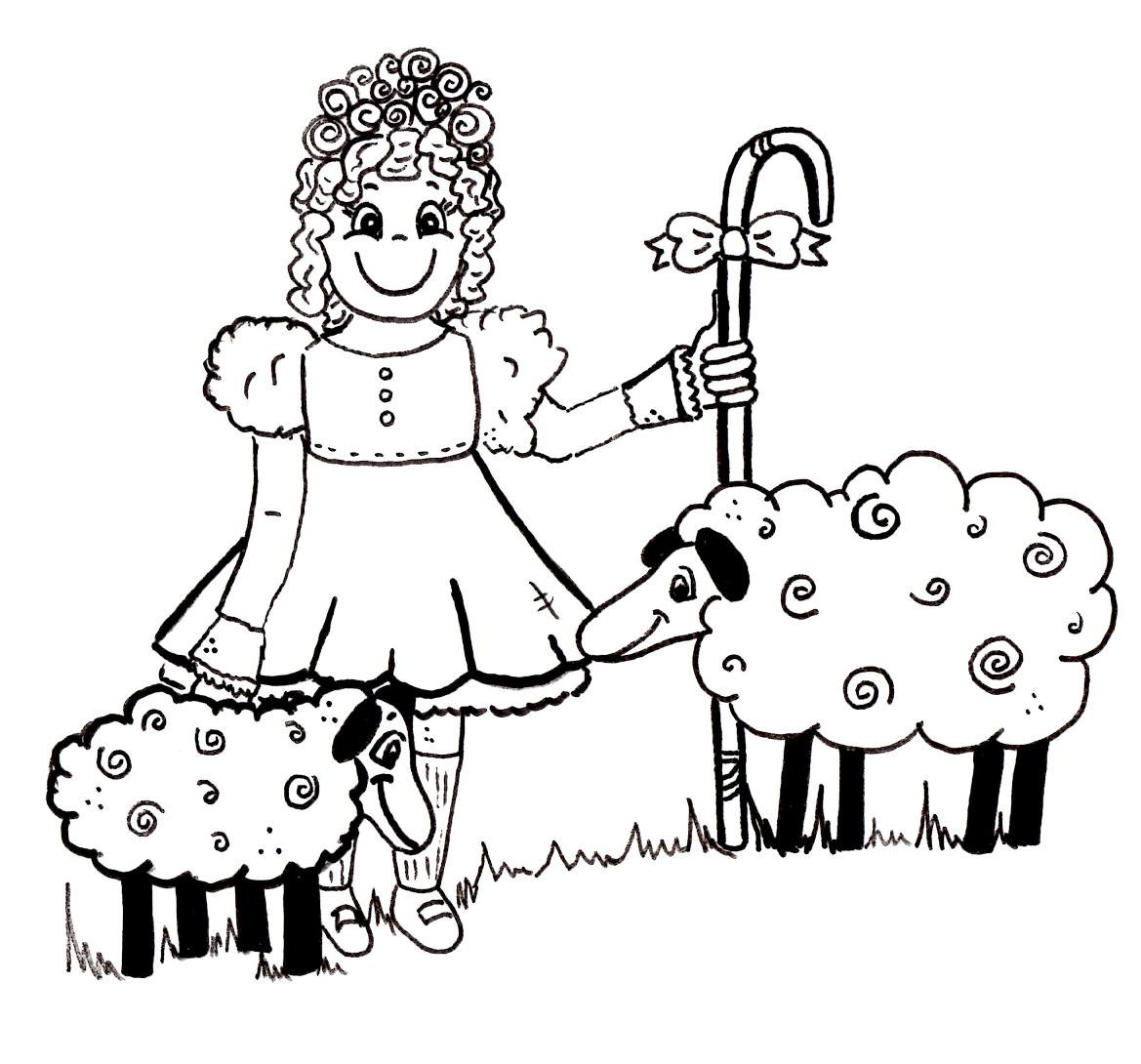 little bo peep coloring pages scraphappy paper crafter free nursery rhyme digis