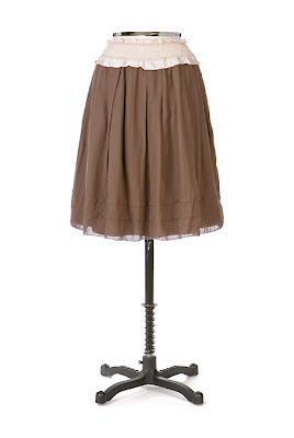 Anthropologie Cafe Mocha Skirt