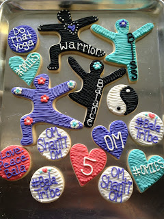 Yoga Themed cookie platter