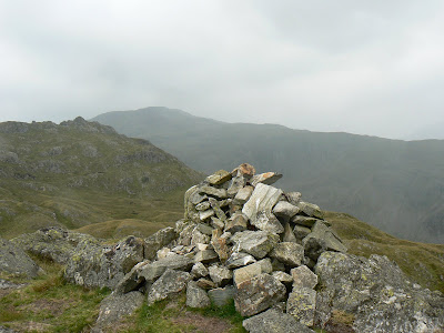 The summit cairn on Bessyboot, the final top of the day