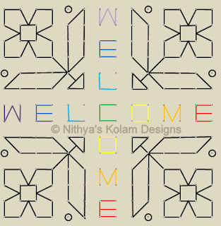 7 Welcome kolam Dots 14 x 14