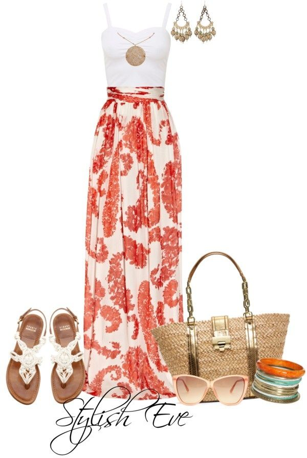 Long Maxi Skirt Outfit