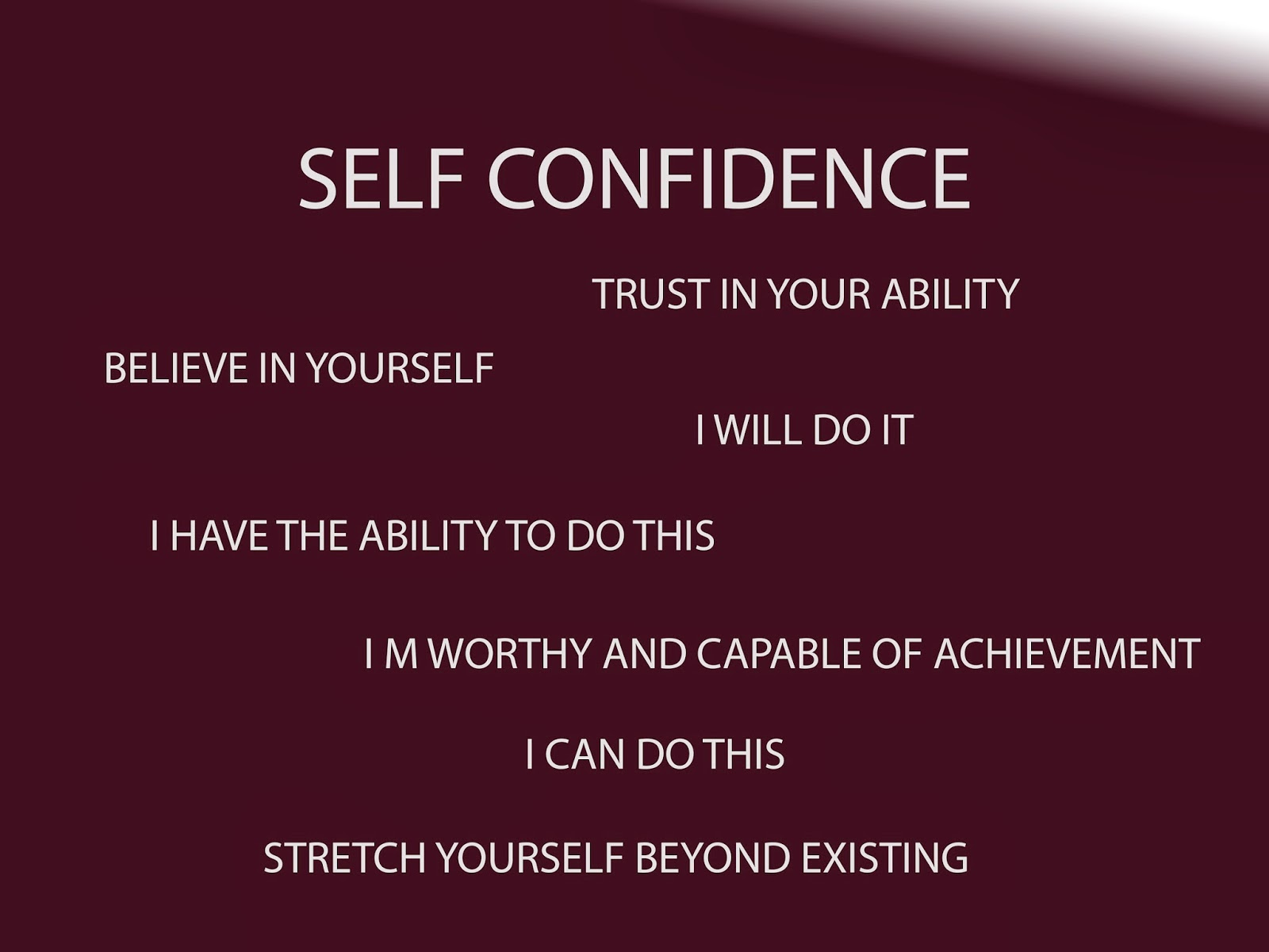 self confidence essay english