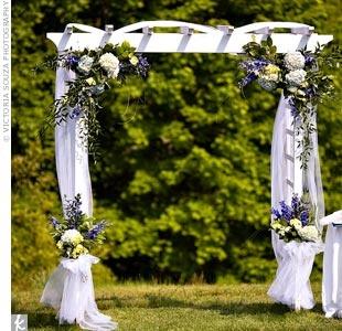 One lovely wedding the wedding trellis for Arbor wedding decoration ideas