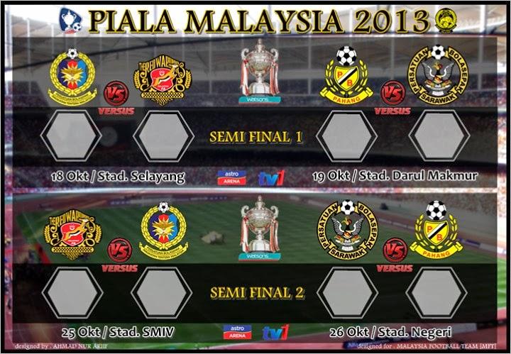 Kelantan 18 Oktober 2013 - Separuh Akhir Piala Pertama Malaysia 2013