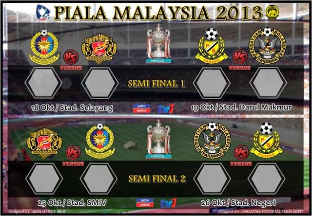 Keputusan ATM vs Kelantan 18 Oktober 2013 - Separuh Akhir Piala Pertama Malaysia 2013