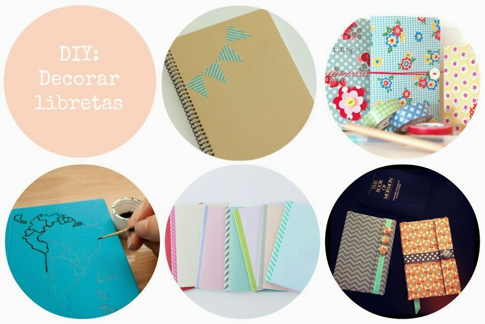 Tutoriales Decorar libretas DIY