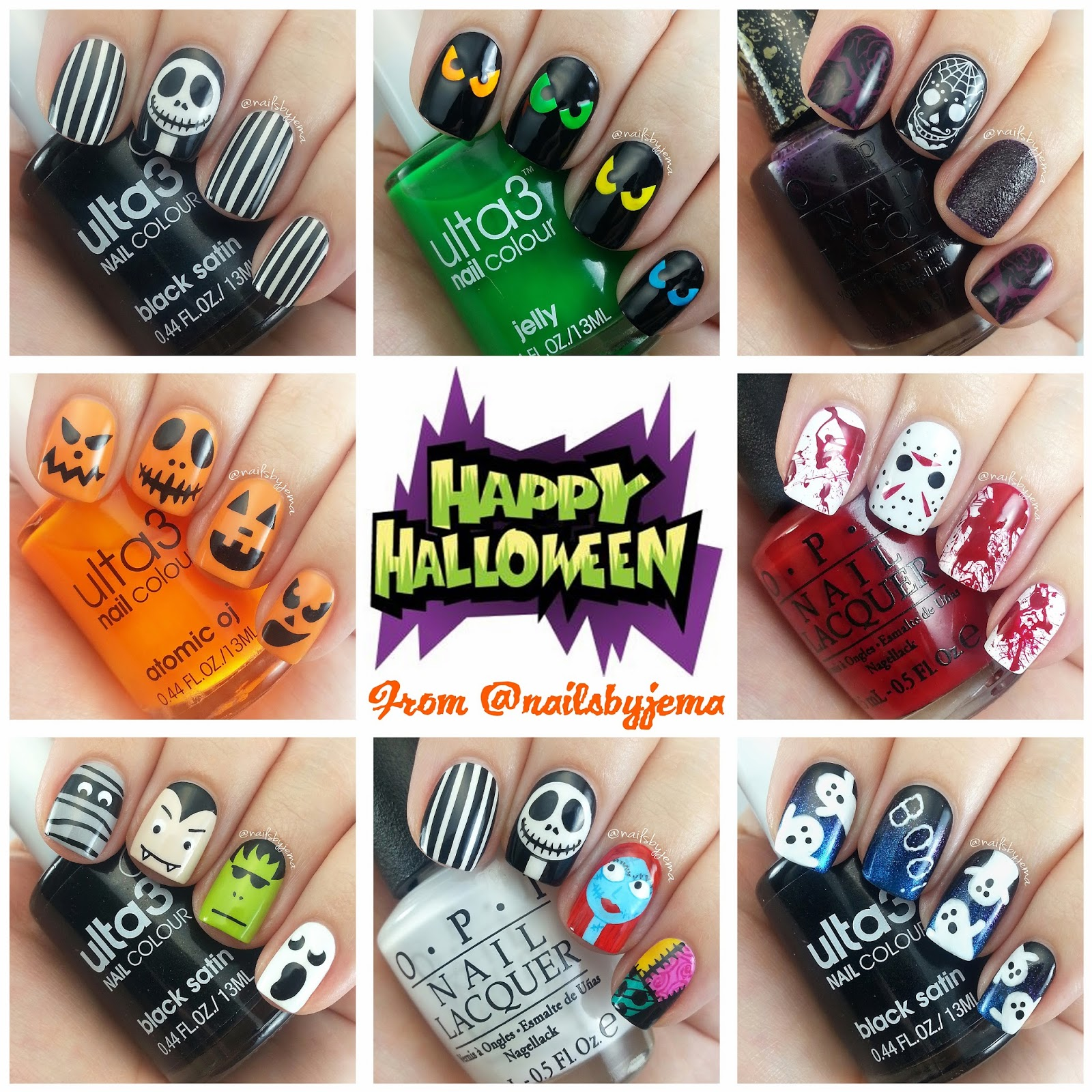 and finally my halloween nail designs wrap up