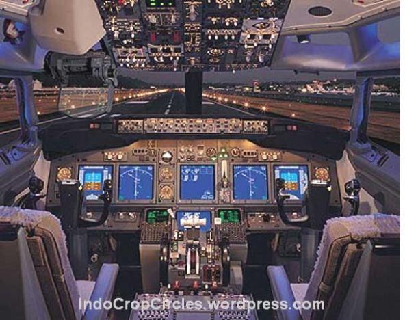 Kokpit Pesawat Khusus Kepresidenan RI