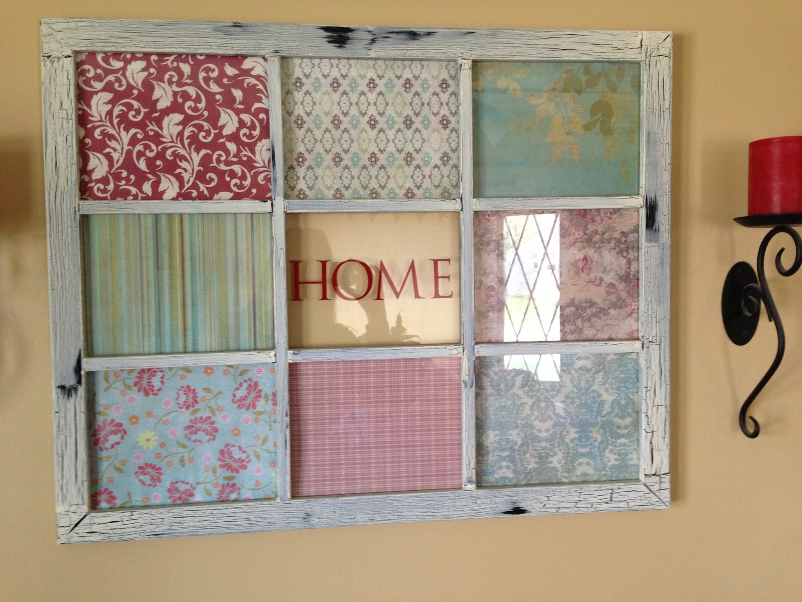 My blissful space fabric covered frame our summer for Diy fabric picture frame