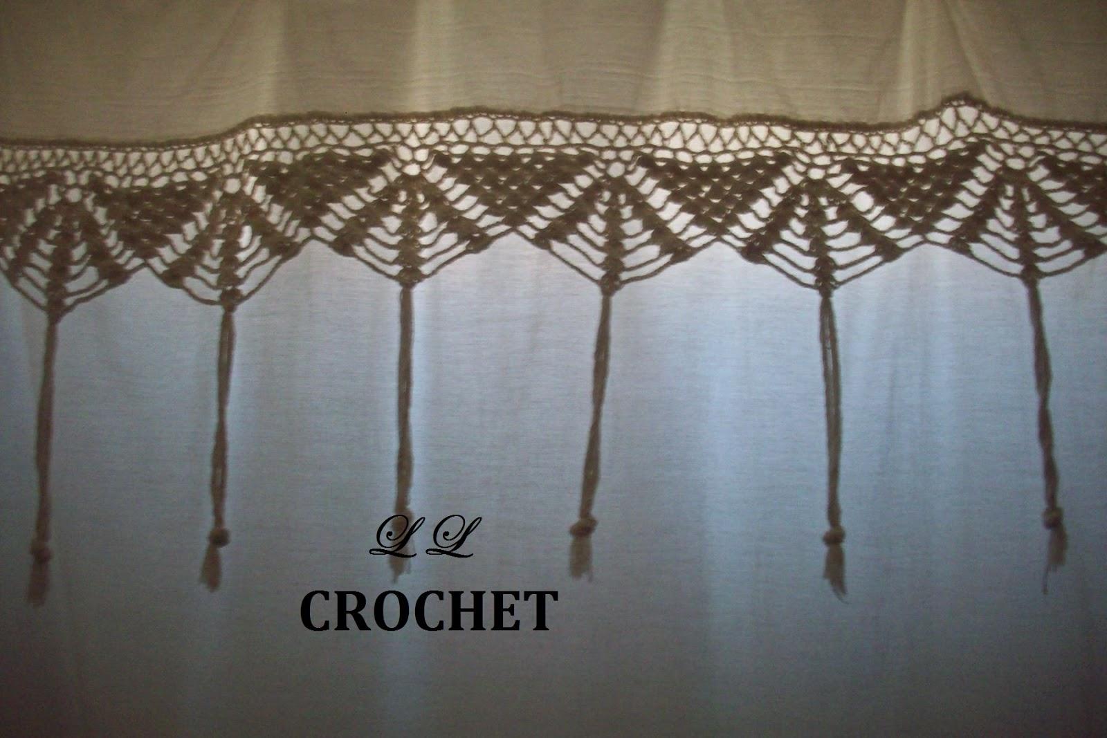 L L Crochet Artesan As Elisoentrerrianas Entrada N 100  ~ Cortinas De Ganchillo Para Baño
