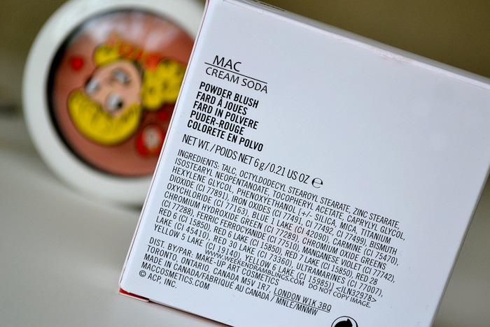 MAC Cream Soda Satin Powder Blush Soft Peach Coral Makeup Archies Girls Collection Betty Indian Beauty Blog Swatches Reviews FOTD Looks Darker Skin WOC Ingredients