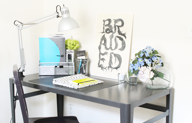 Bright Workspace with pops of color