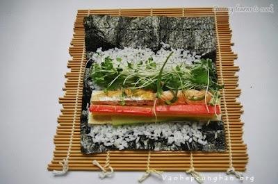 Cách làm sushi cá Hồi Nhật Bản 2