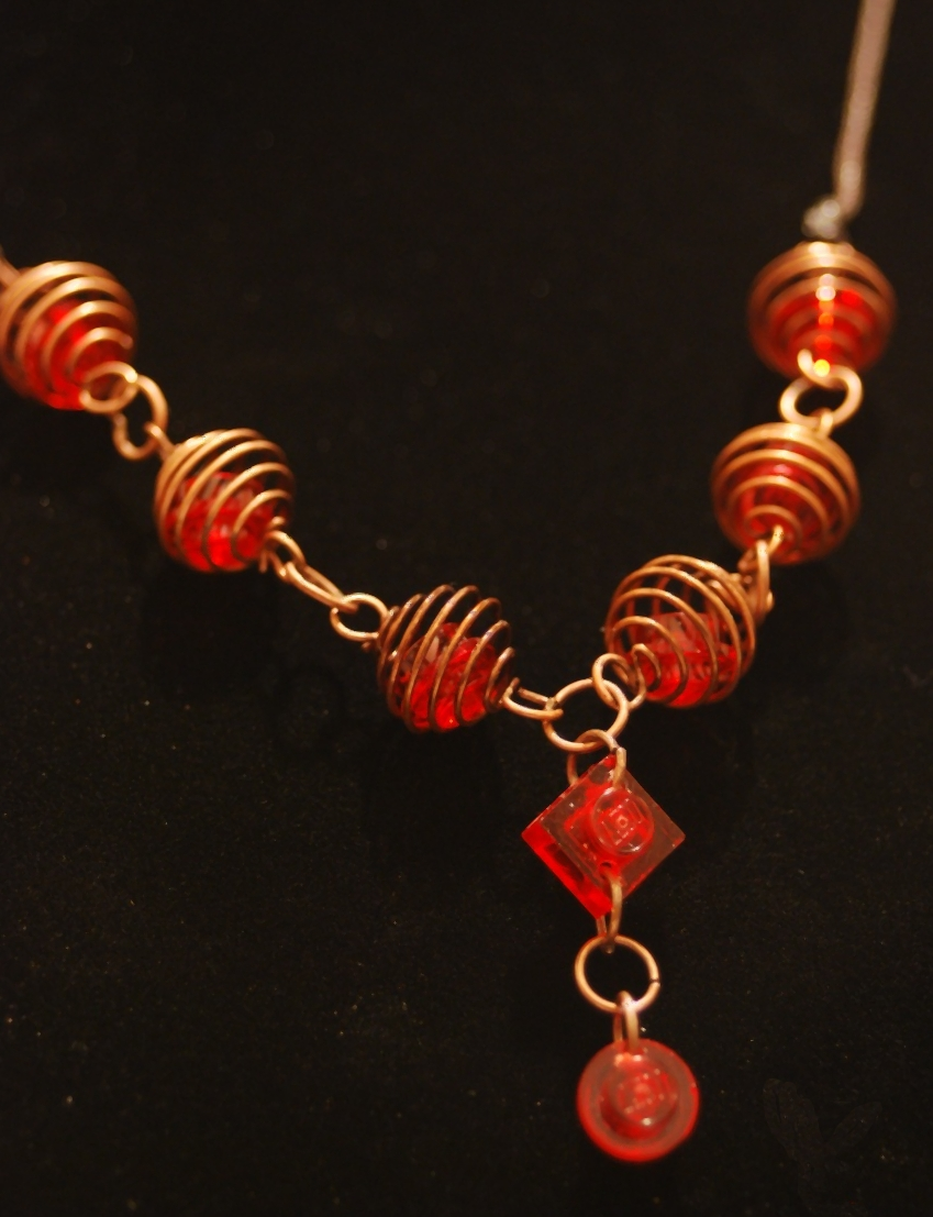 LEGO Copper Coil Necklace
