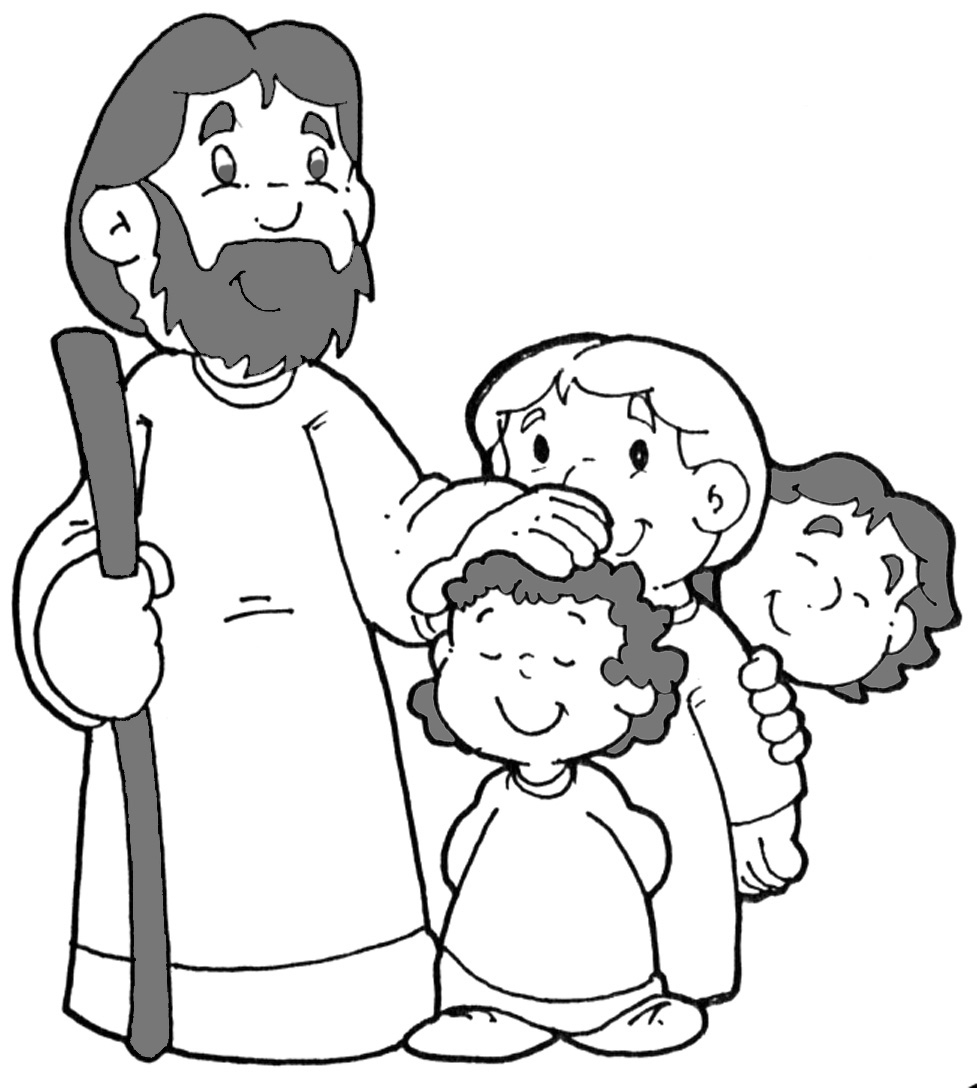 Jesus Loves The Little Children Of The World Coloring Page