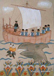 Jona slukas av valfisken