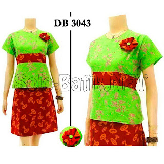 DB3043 - Model Baju Dress Batik Modern Terbaru 2013