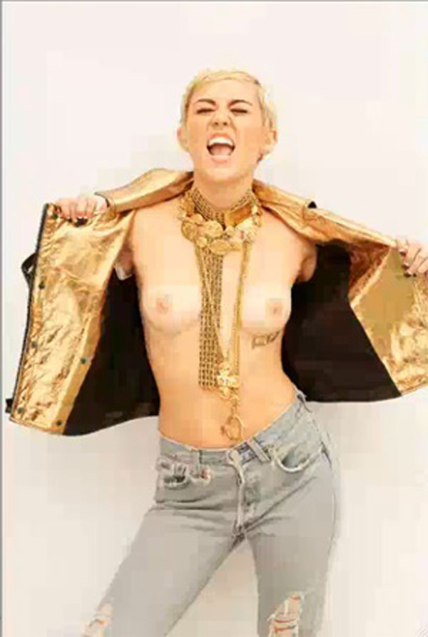 Miley Cyrus Topless Maim Uncensored