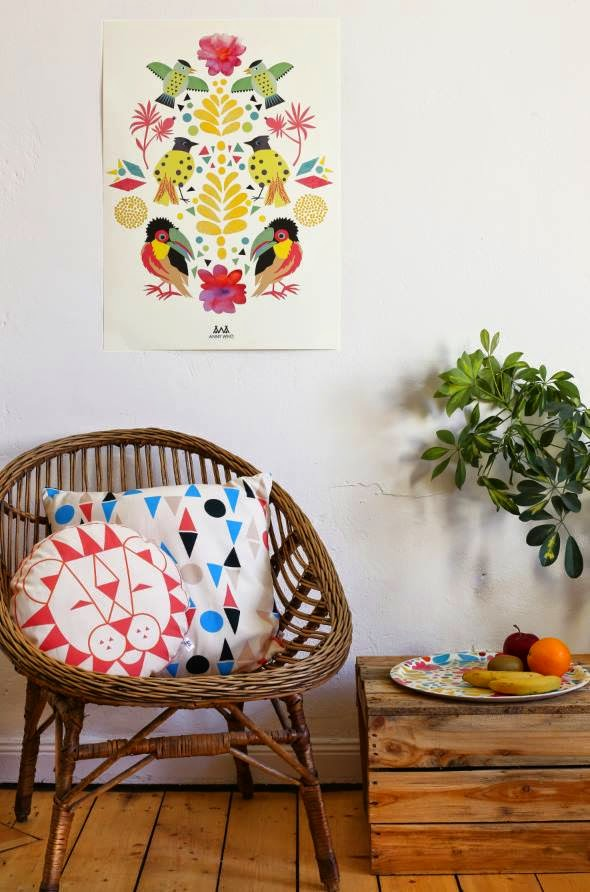 Stylish home decor with quirky geometrical print by Anny Who