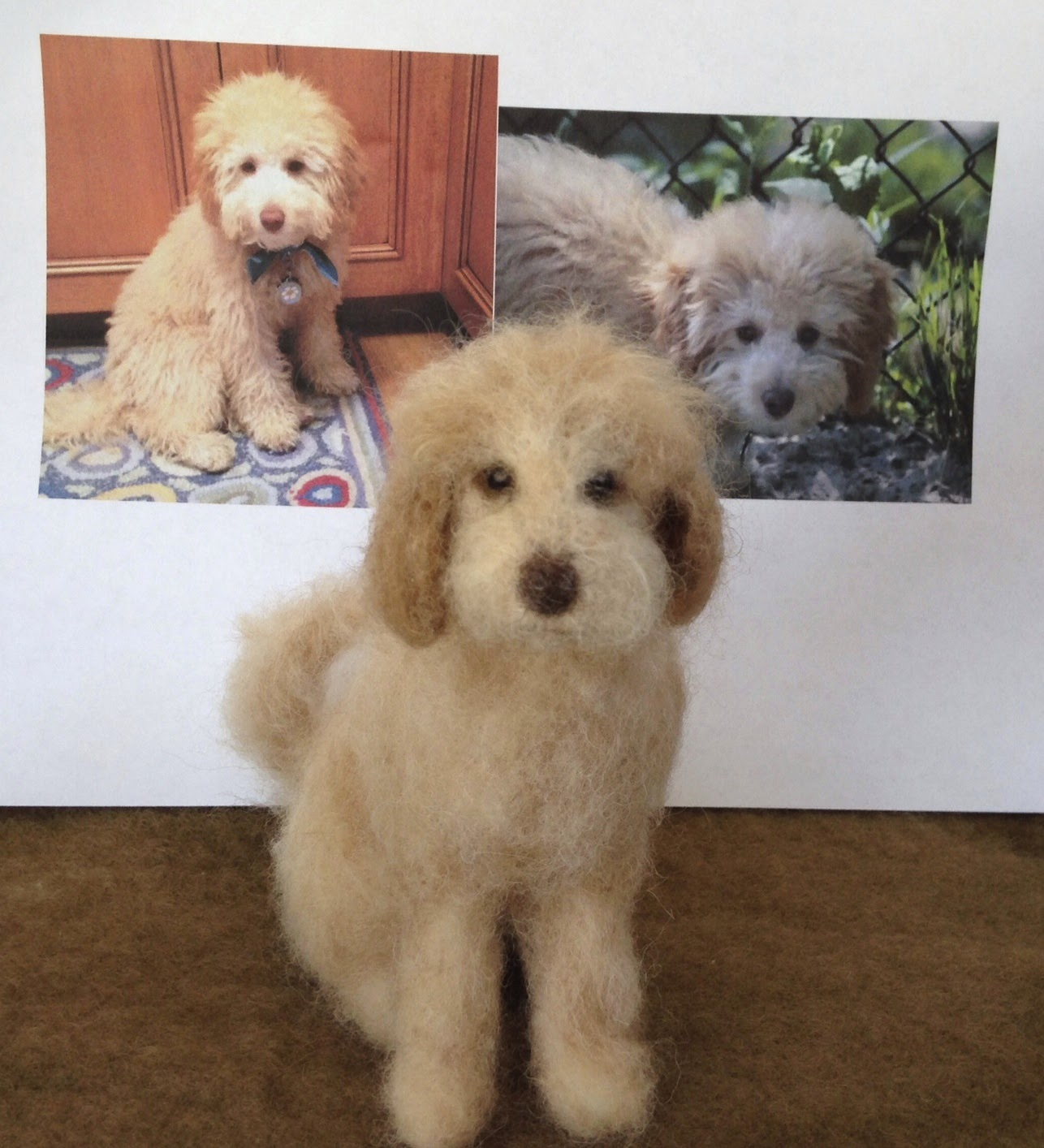 Needle felted labradoodle