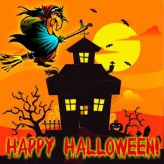 DP BBM Halloween Tema Penyihir terbang