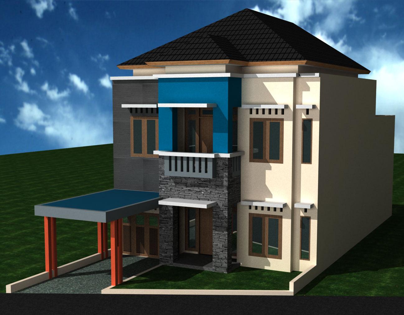 rumah minimalis lantai dua