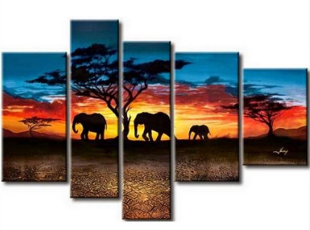 tripticos-al-oleo-paisajes-africanos