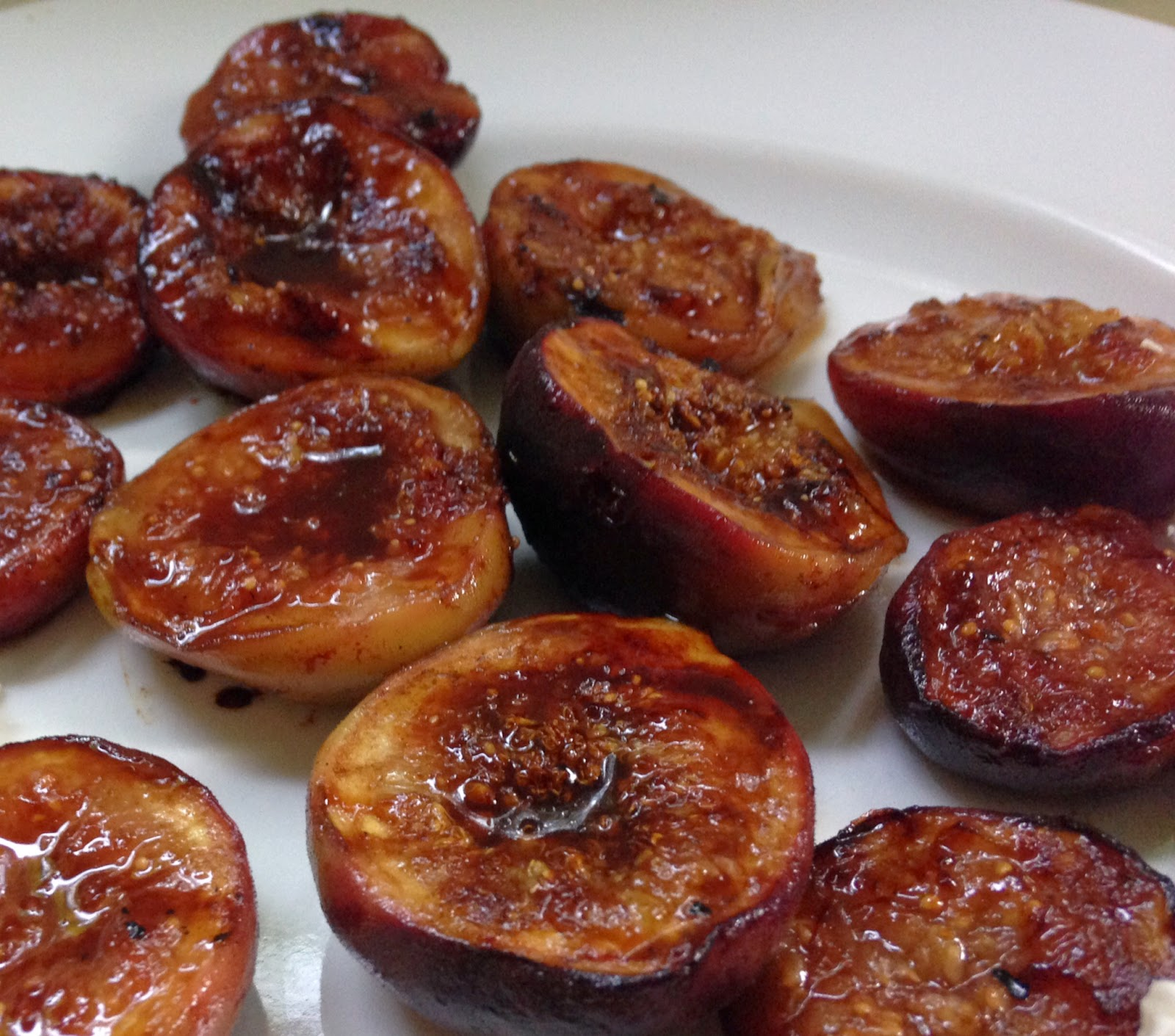 KnitOne,PearlOnion: Grilled Figs With Pomegranate Molasses