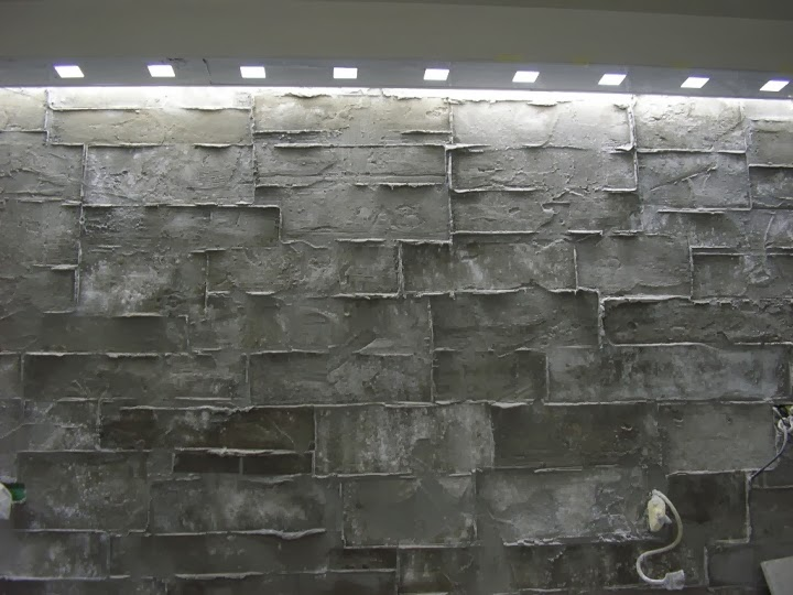 Стенна декорация имитация кофраж