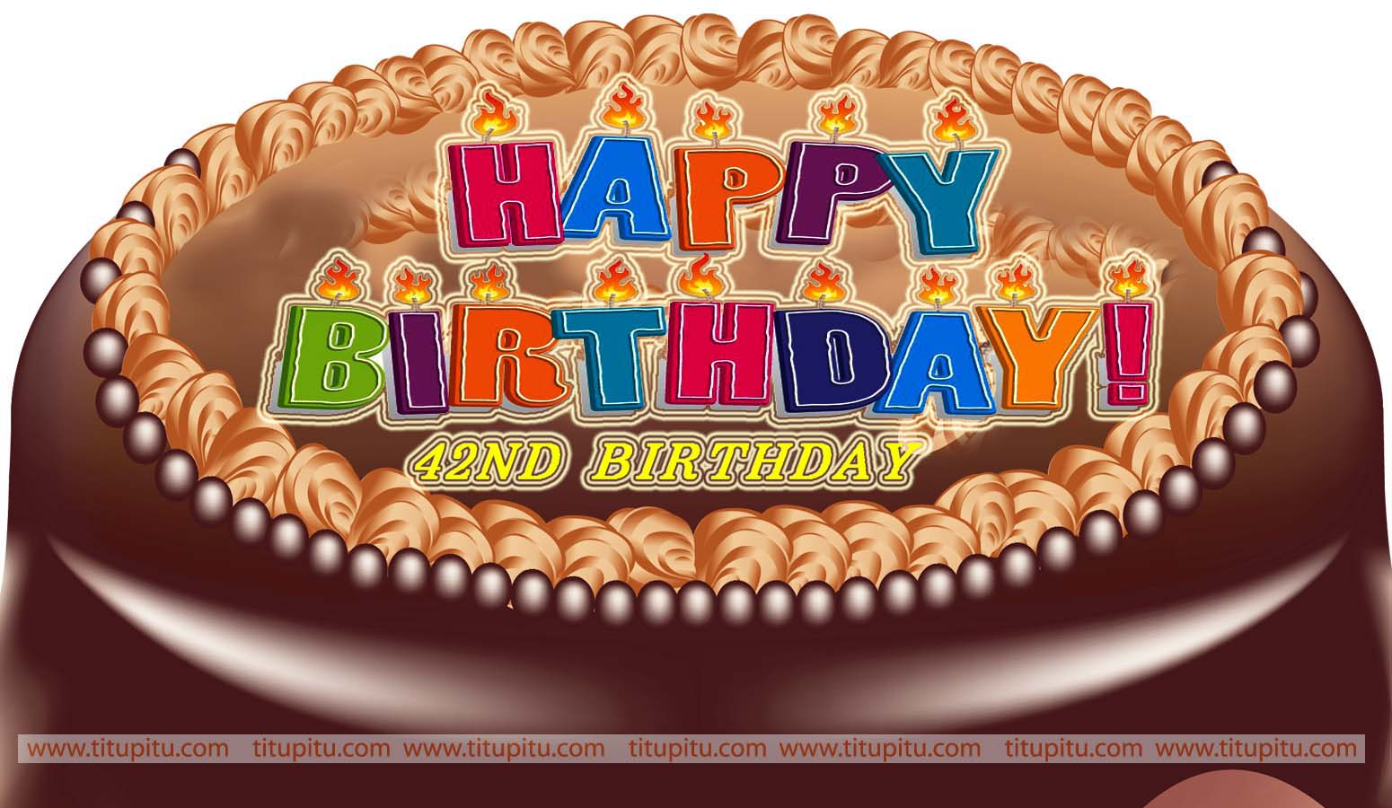 Birthday Cake Images And Msg : Wishes message and wallpaper for 42nd birthday Haryanvi ...