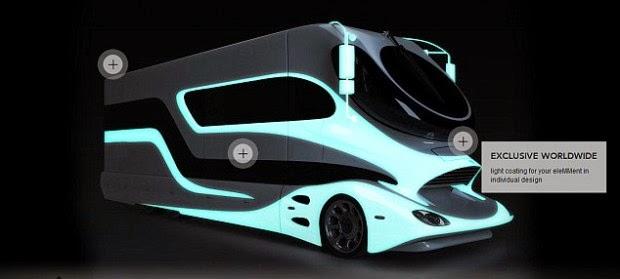Le camping car le plus cher du monde campingcar for Camping car de luxe avec piscine