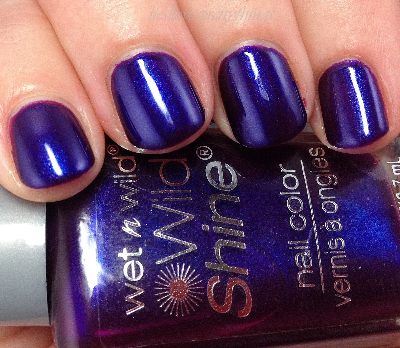 WetnWild Eggplant Frost swatch and review
