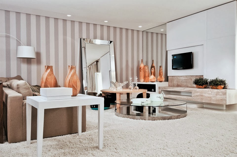 decoracao interiores braga:As mesas de centro redondas além de ser tendência são ótimas para