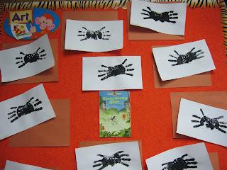 spider handprints