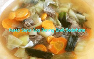 Resep Sayur Sop Bening