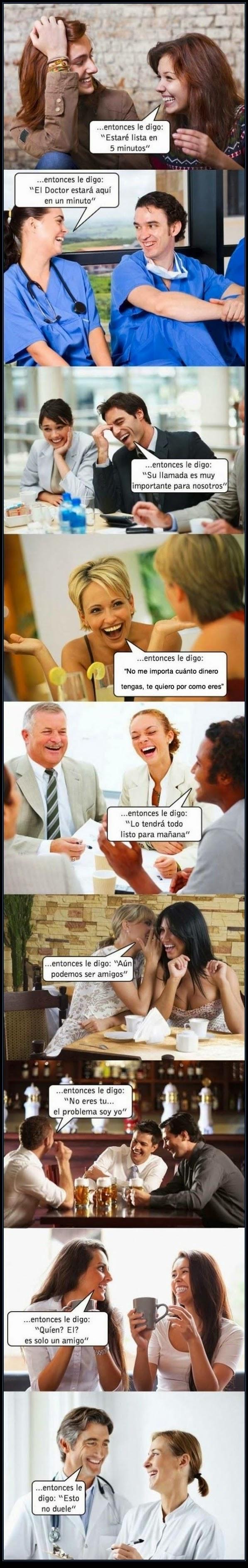 MENTIRAS TIPICAS - humor - pareja