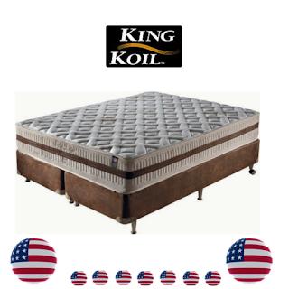 Molas ensacadas especiais King Koil sendo com o terço central da estrutura mais reforçado.
